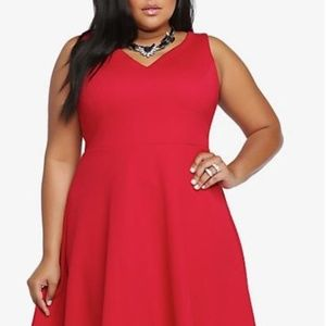 Torrid Textured V-Neck Skater Dress